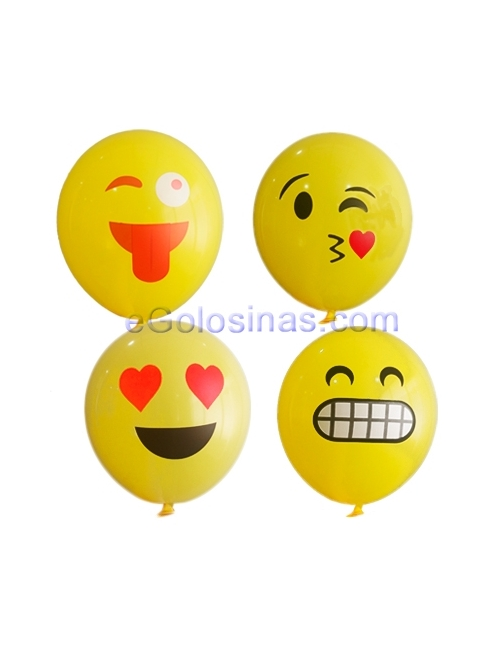 GLOBOS LATEX EMOJI 10uds