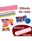PACK 200uds de CINTAS+CHICLES con REGALO FINI