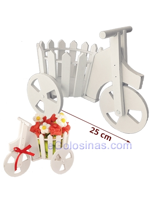 CARRO BLANCO DECORACION MESA CHUCHES