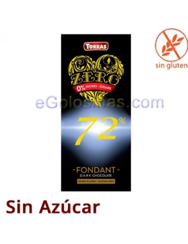 TABLETA CHOCO 72% ZERO FONDANT 100gr TORRAS