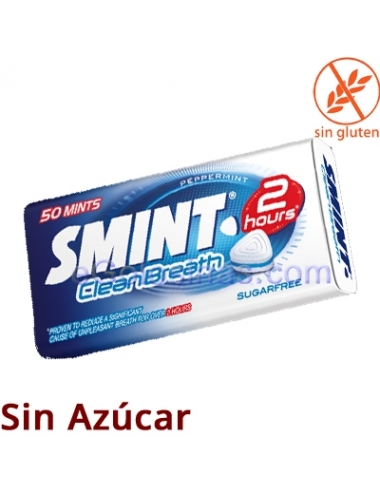 Caramelos LATA SMINT 2 HORAS CLEAR MENTA 35gr 12uds