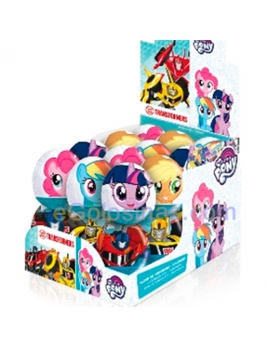 HUEVO CHOCOLATE PONY + TRANSFORMERS 24uds