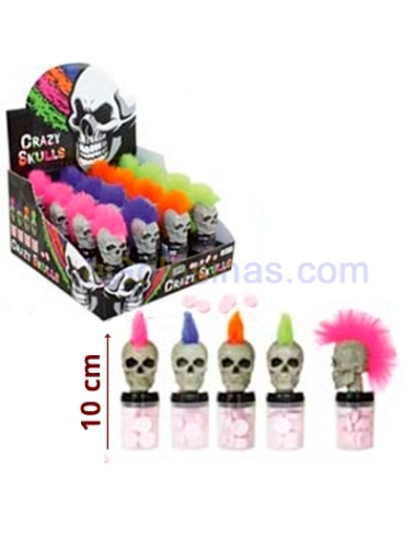MINI TOPPERS CRAZY SKULLS 16uds