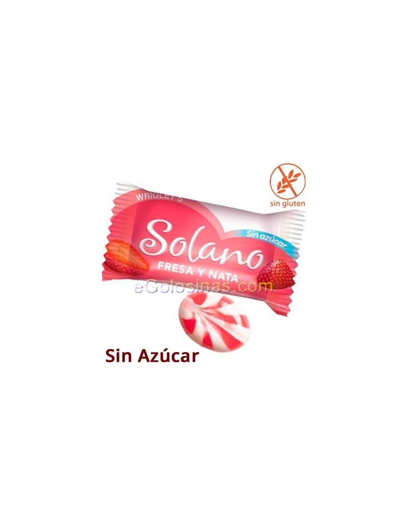 SOLANO sabor FRESA y NATA Sin Azucar 1Kg (330uds aprox)