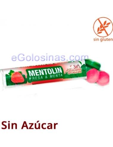 TUBO MENTOLIN FRESA MENTA Sin azucar 12uds