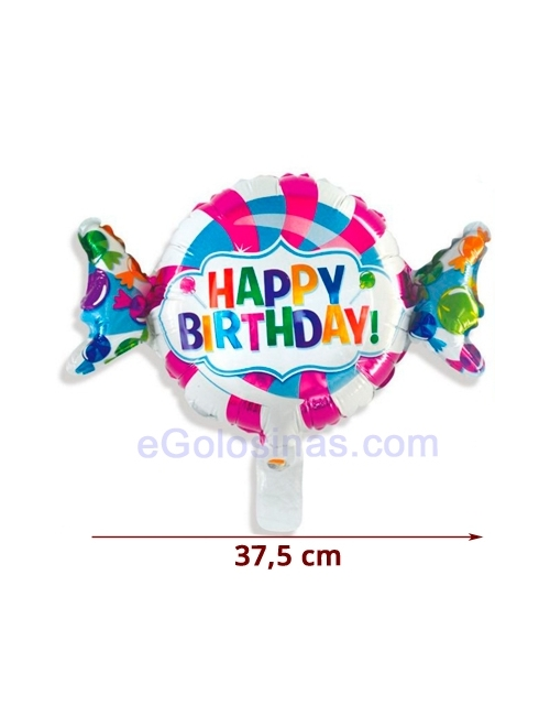 GLOBO CARAMELO HAPPY BIRTHDAY 37.5cm
