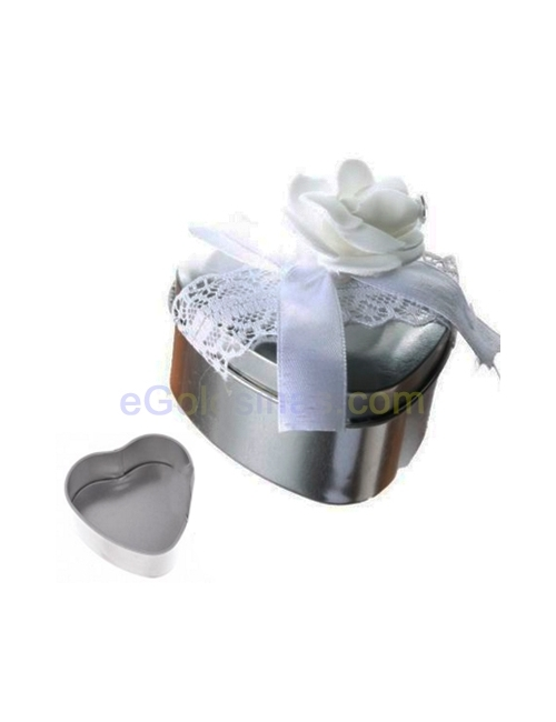 CAJA REGALO METALICA CORAZON DECORADA 12uds