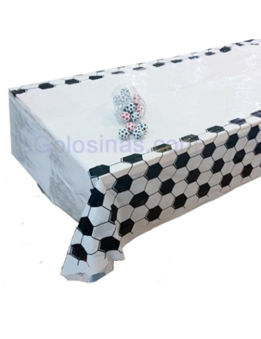 MANTEL MESA FUTBOL PLASTICO 137x220cm para Fiesta Infantil