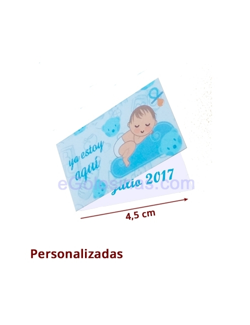 TARJETA BEBE NIÑO PERSONALIZADA 10uds