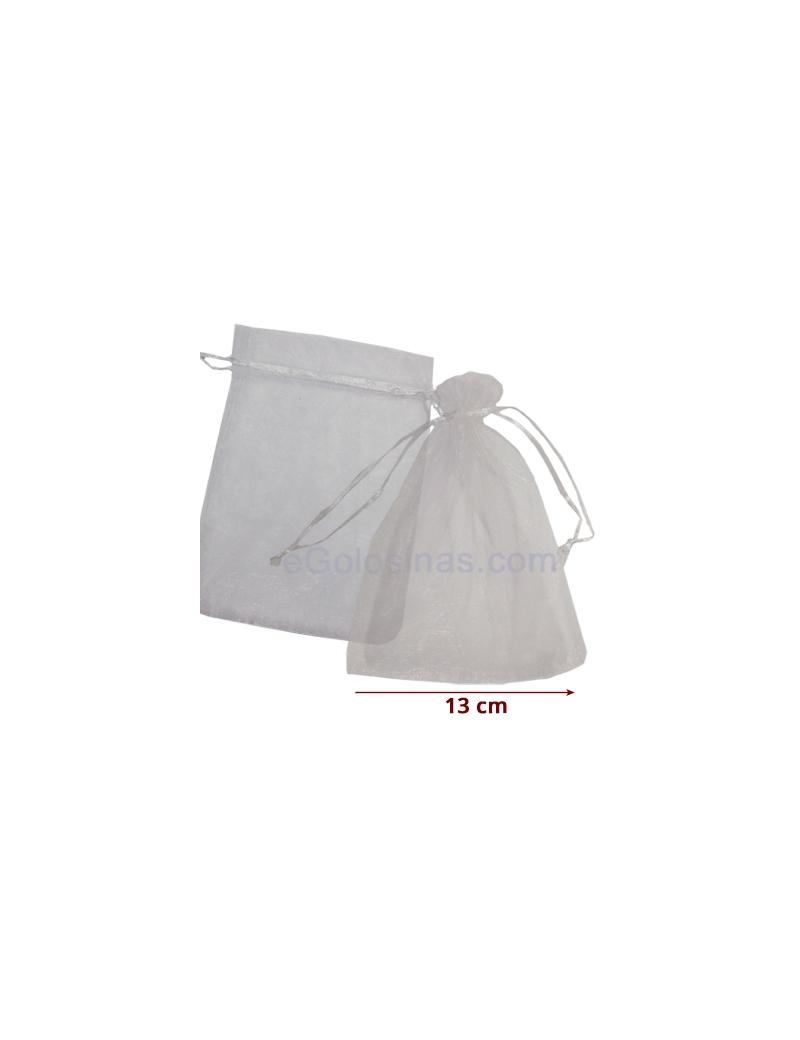 71b5c5b79 10 Bolsas Organza Blanca 11x18cm - Tienda Regalos Bautizo y Boda