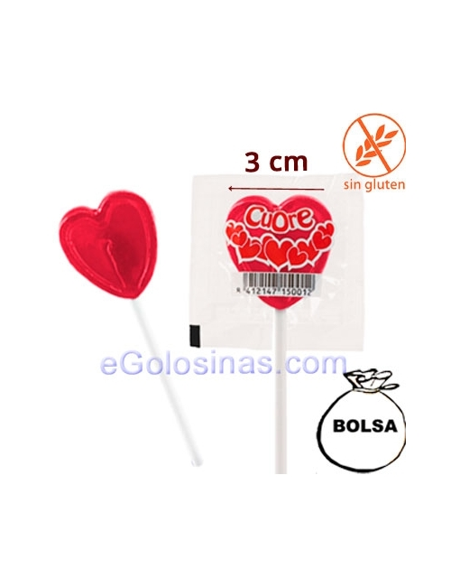 MINI PIRULETAS CORAZON 140uds JAKE