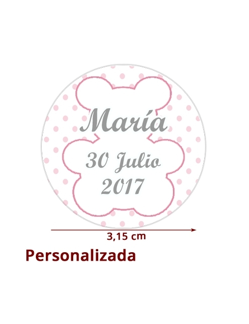 ETIQUETA BEBE NIÑA PERSONALIZADA 15uds
