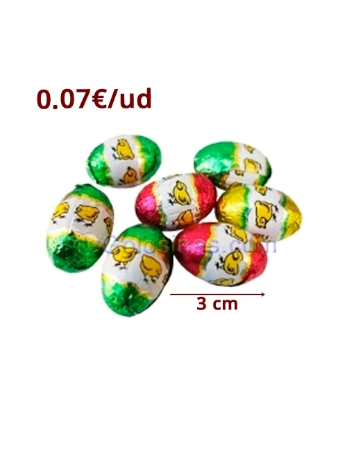 MINI HUEVOS de chocolate 1Kg SORINI (165uds)