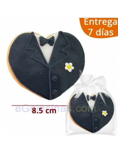 GALLETA DECORADA CORAZON NOVIO