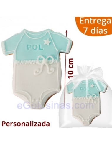 GALLETAS DECORADAS BODY AZUL personalizadas