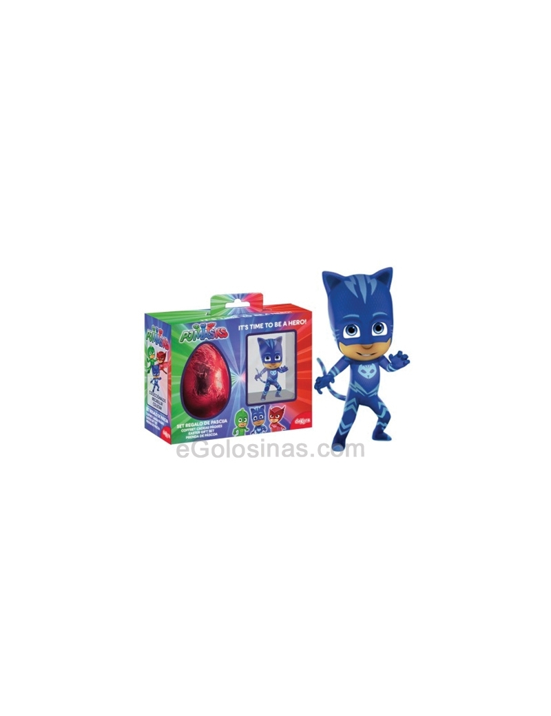SET REGALO PJMASKS HUEVO CHOCOLATE