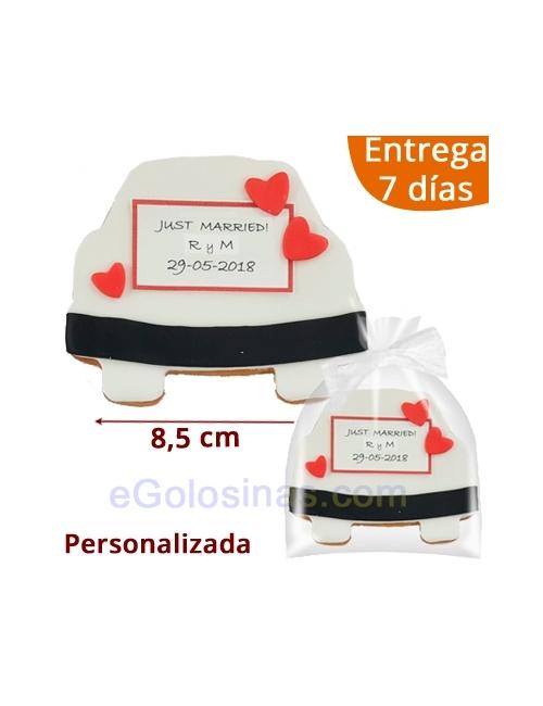 GALLETAS DECORADAS COCHE CASADOS personaliz