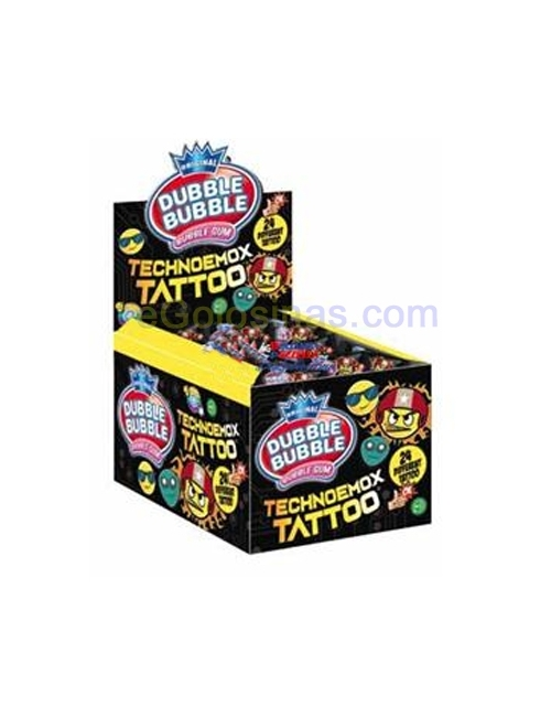 CHICLE TECHNOEMOX TATTOO 200uds FLEER
