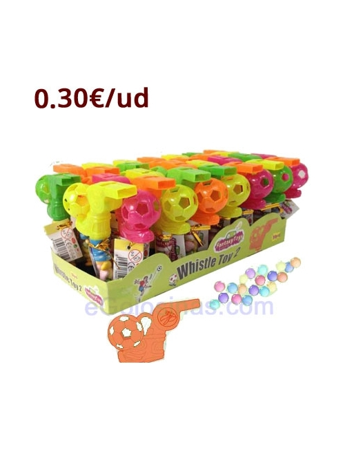 SILVATO WHISTLE TOY 30uds FANTASY TOYS
