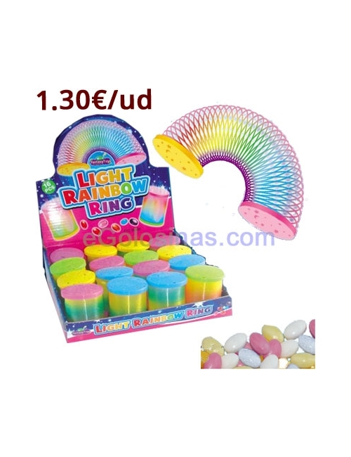 MUELLE LIGHT RAINBOW RING 16uds FANTASY TOYS