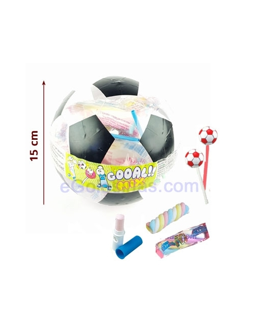 BALON FUTBOL con chuches 110gr TOP CANDY