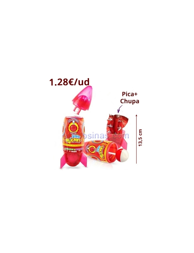 CANDY SPRAY ROCKET 20uds DISGO