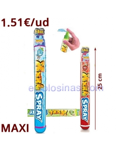 CANDY SPRAY XXXL 12uds KIDS STUFF