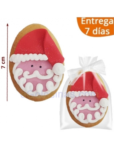 GALLETAS DECORADAS PAPA NOEL 7cm
