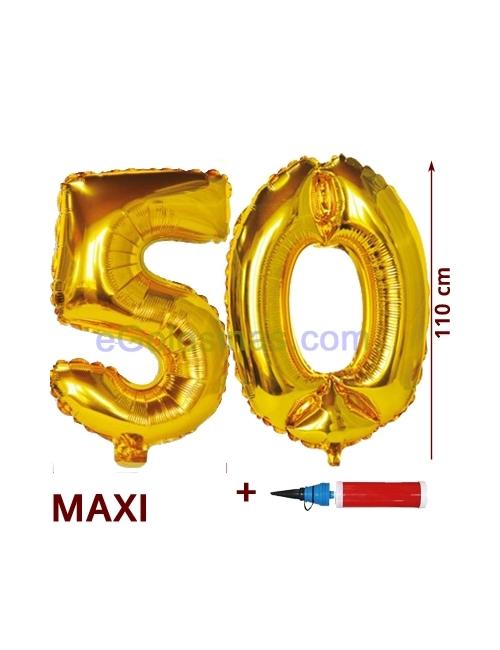 GLOBO XL 50 DORADO con HINCHADOR