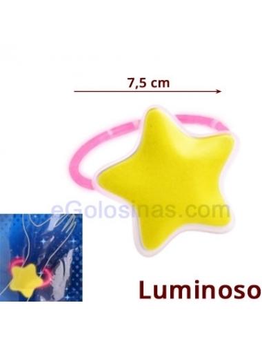 PULSERA LUMINOSA ESTRELLA 24uds (Apto +7años)