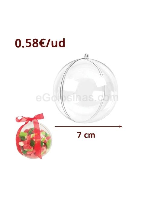 BOLA PVC TRANSPARENTE  para colagr 7cm 12uds