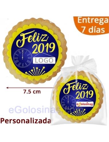 GALLETAS REDONDA FIN DE AÑO 2019 personalizada