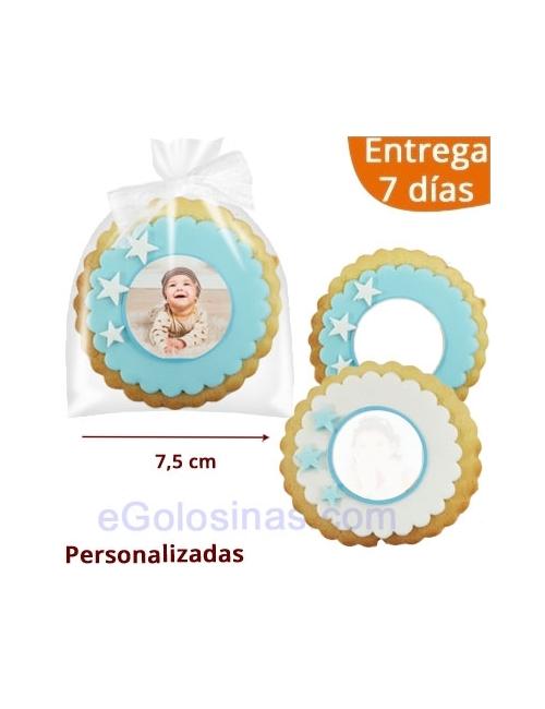 GALLETAS REDONDA ESTRELLAS con FOTO