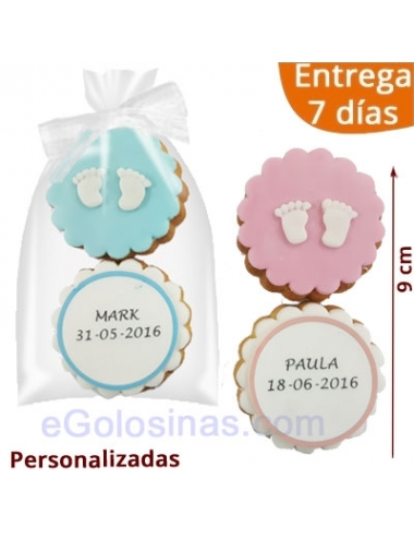 2 GALLETAS BEBE BAUTIZO PIECECITOS