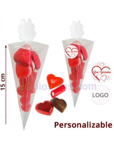 CONO CHOCOLATE Y CHUCHES CORAZON 60gr
