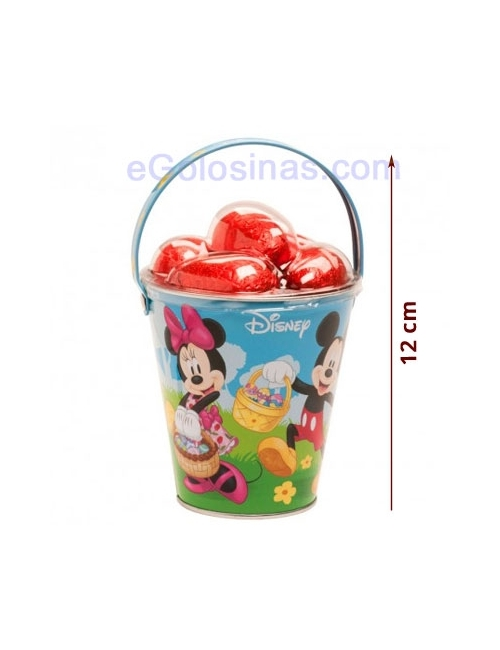 CUBO MICKEY&MINNIE CON 5 HUEVOS CHOCOLATE