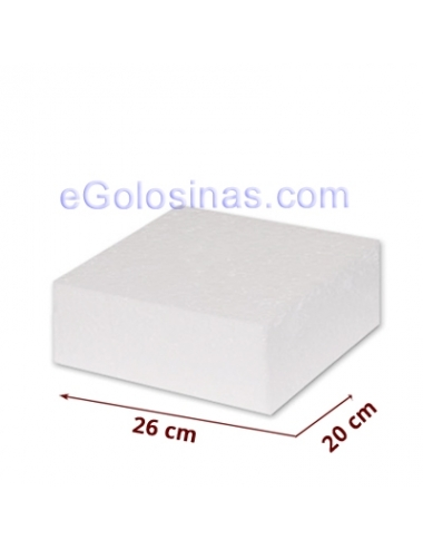 POREXPAN RECTANGULAR 26x20 cm 1uds