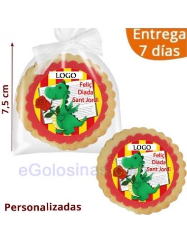 GALLETAS REDONDAS SANT JORDI PERSONALIZADAS