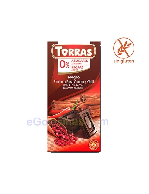 TABLETA CHOCOLATE PIMIENTA ROSA 75gr TORRAS
