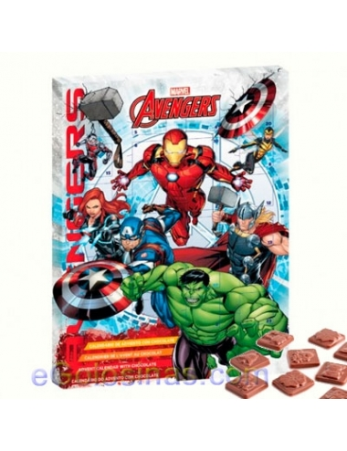 CALENDARIO ADVIENTO CHOCOLATE AVENGERS 50gr