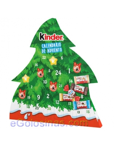 CALENDARIO ADVIENTO CHOCOLATE KINDER ARBOL