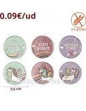 MONEDAS CHOCOLATE UNICORNIO 200uds
