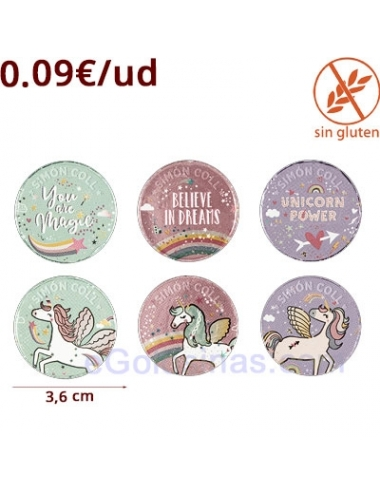 MONEDAS CHOCOLATE UNICORNIO 110uds