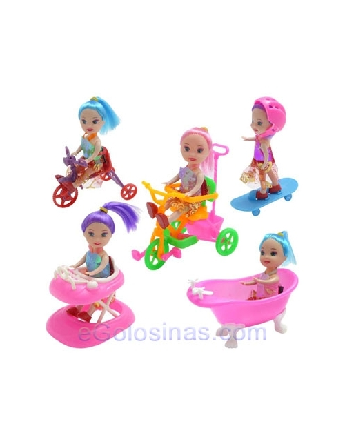 MUÑECAS HAPPY DOLLS 6uds