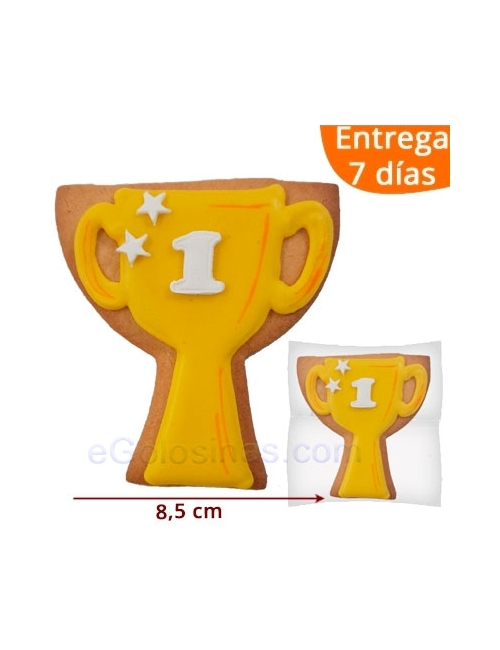 GALLETA DECORADA TROFEO o COPA ideales para regalar en una competición