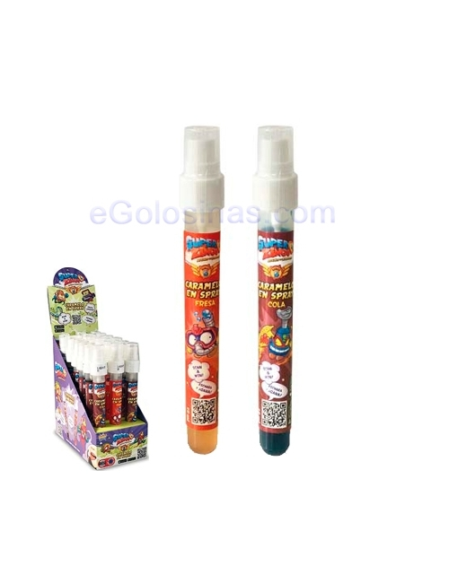 SPRAY GOLOSINA SUPERZINGS 18uds