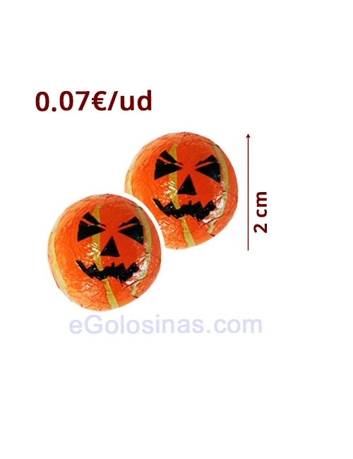 BOLAS HALLOWEEN de CHOCOLATE 100uds