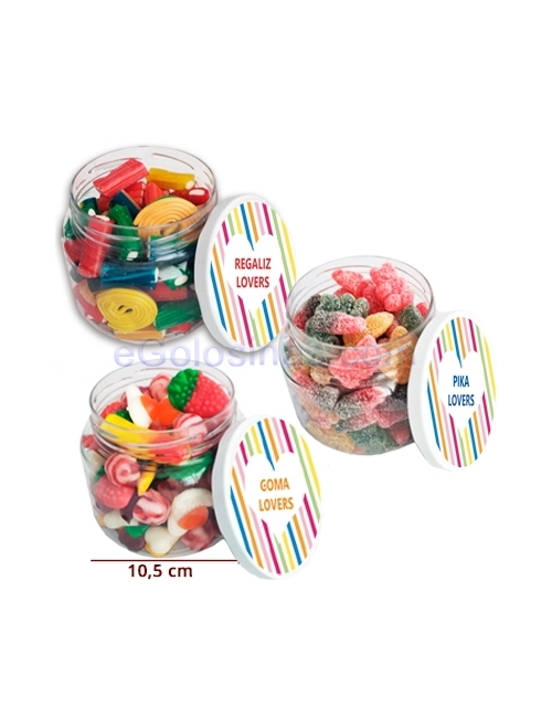 PACK 3 BOTES CHUCHES PIKA, REGALIZ Y BRILLO de 550gr