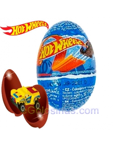 HUEVO CHOCOLATE HOT WHEELS 24uds ZAINI