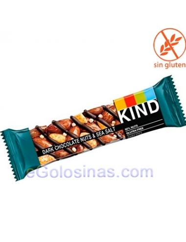 BARRITAS BE-KIND DARK CHOCOLATE NUTS & SEA SALT 12uds 40gr